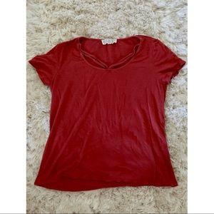 Dark Peach Flow-y T Shirt